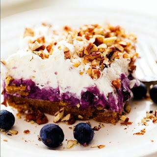 No Bake Creamy Blueberry Pecan Squares