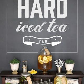 Hard Iced Tea Bar and Entertaining Tips