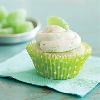 Key Lime Cupcakes with Whipped Cream Frosting.