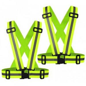 Set 2 x Bretele elastice fluorescente