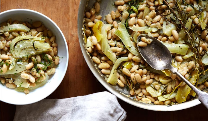 Olive Oil Braised Great Northern Beans with Fennel, Rosemary & Thyme ...