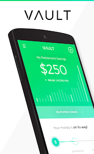 Vault - Save for retirement every time you're paid- screenshot thumbnail