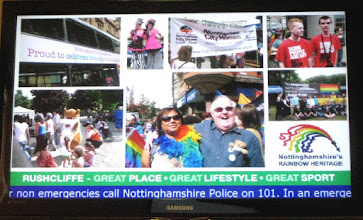Photo: Nottinghamshire's Rainbow Heritage's display at West Bridgford Police Station