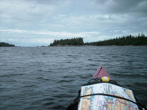 Photo: The Roar Islets in Blair Inlet. Camp for the night is straight ahead.