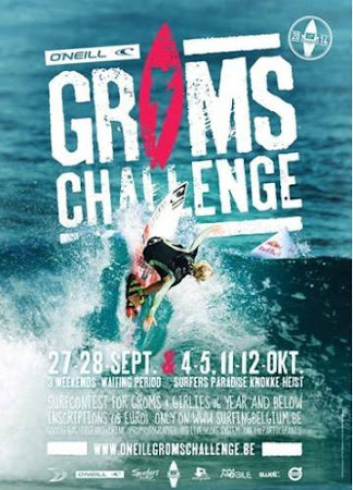 On the contest poster for the grom challenge in Belgium