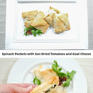 Phyllo Pocket Sandwich with Spinach, Sun-Dried Tomato and Goat Cheese