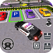 Police Car Parking City Highway