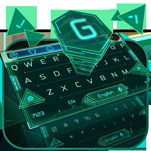 green machine keyboard neon