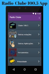 Radio Clube App - náhled