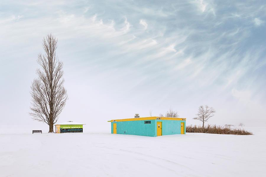A picture containing outdoor, sky, snow, yellow  Description automatically generated