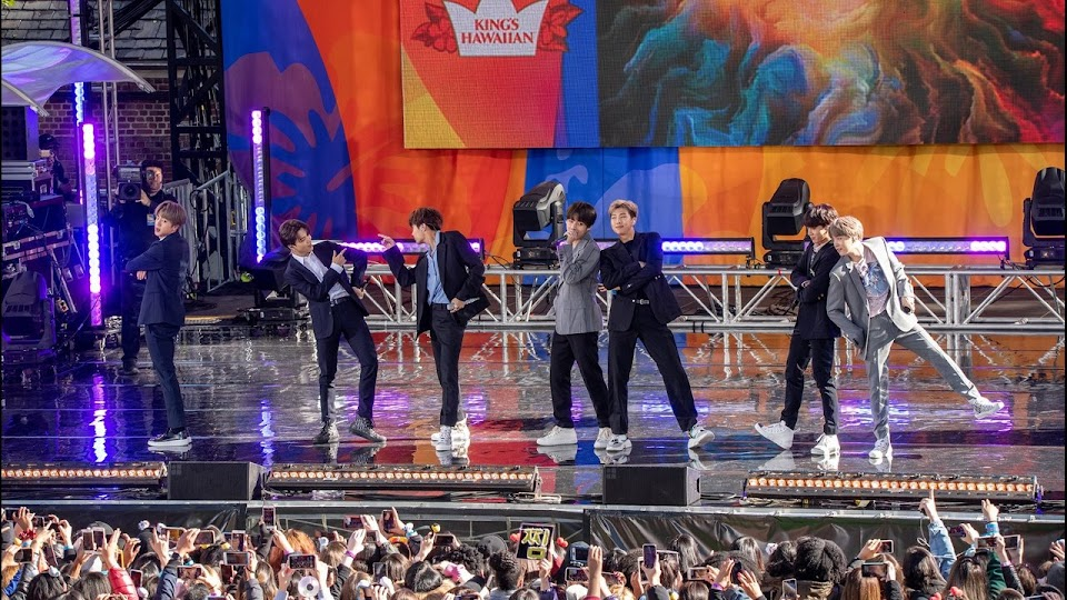 BTS Performing at Central Park