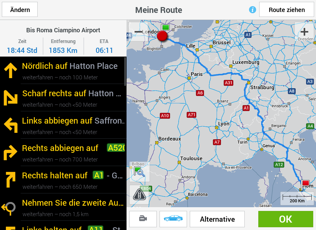 CoPilot Premium Europe - GPS- screenshot