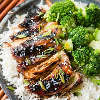 Sticky Asian Grilled Chicken Breasts.