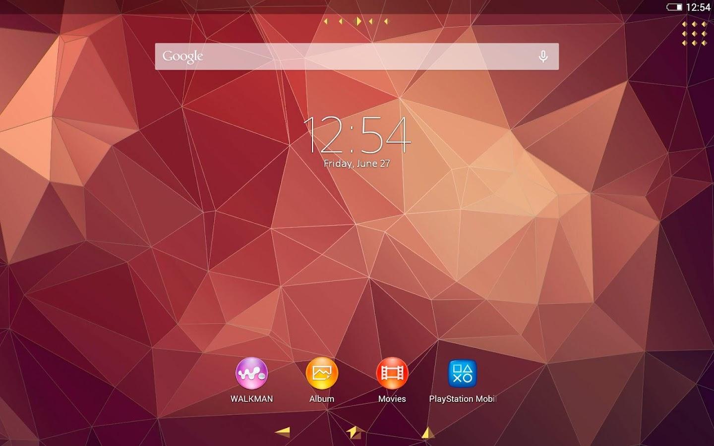 Google themes movies - Xperia Polygon Theme Screenshot