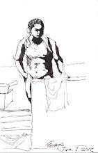 Photo: 夏天到了2012.06.01鋼筆 收容人除了規定的沐浴時間之外,在舍房內是不能打赤搏的,而且連穿著衣服沖澡都不行,那叫做「浪費水源」是違規的行為,那夏天來了怎麼辦呢?收容人就把內褲脫了,然後把內衣前擺翻過頭拉到脖子後面背著,然後用溼毛巾擦拭全身…