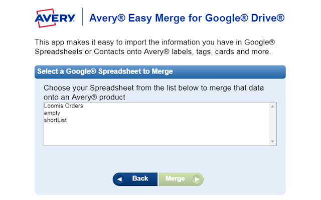 Avery Easy Merge