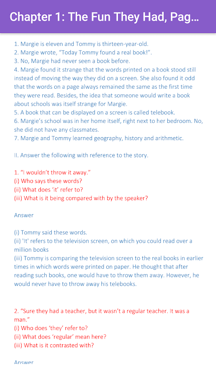 9th & 10th English NCERT Solutions - Class 9/10 – (Android
