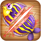Ninja Fish – Fishing Cut, Fish Cutting Games