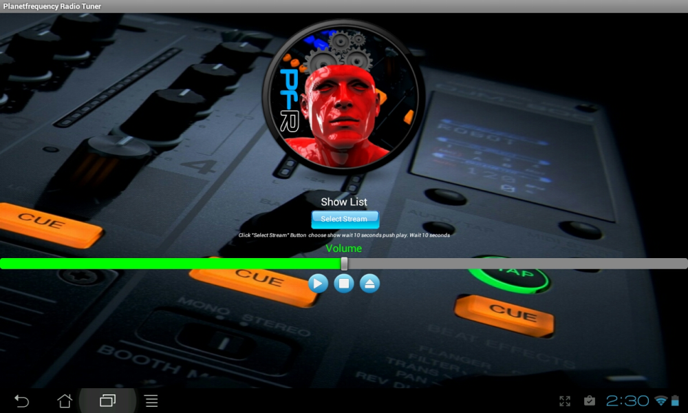 Planet Frequency Radio Tuner- screenshot