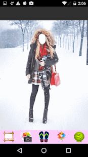 Girls Snowfall Photo Editor - náhled