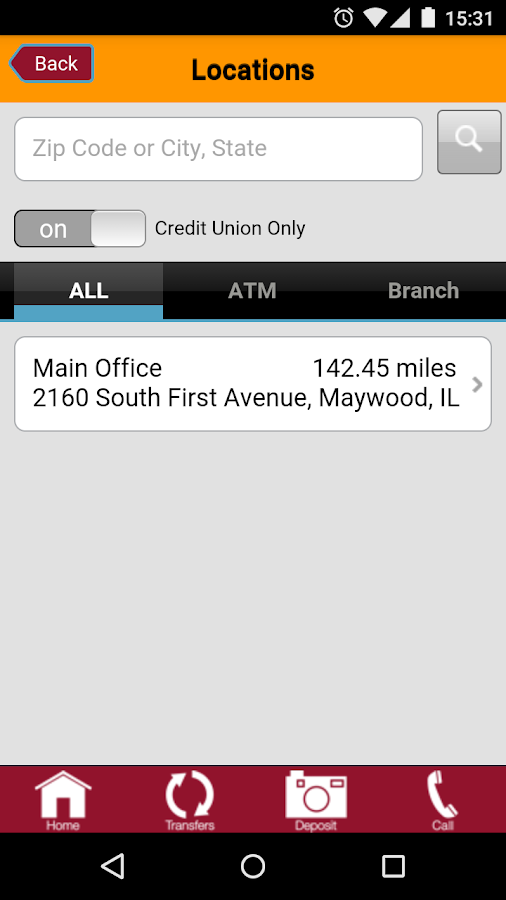 Loyola Credit Union Mobile App- screenshot