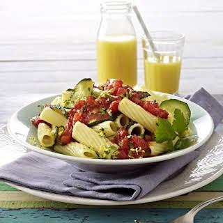 Tomato and Zucchini Rigatoni.