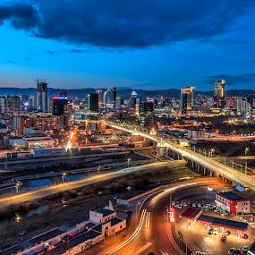 Ulaanbaatar city .Mongolia by Steel Hero - City,  Street & Park  Vistas
