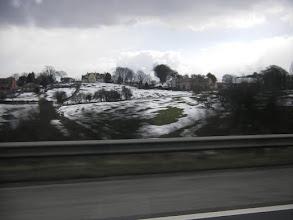 Photo: ...... waar de sporen van de hevige sneeuwbuien van vorige week nog duidelijk waarneembaar zijn.