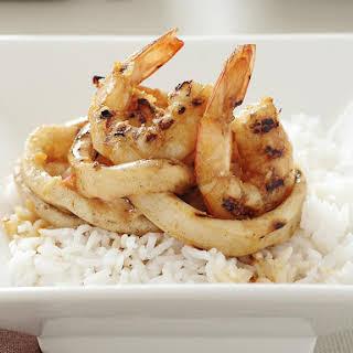 Grilled Shrimp and Calamari with Rice.