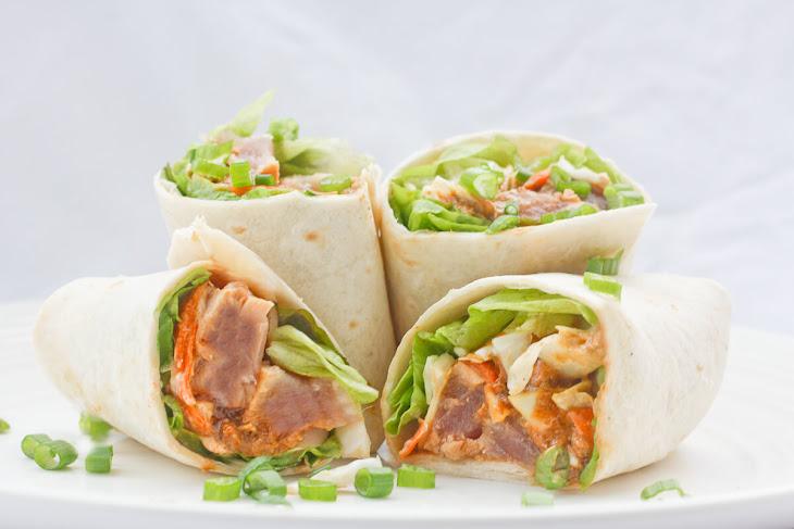 Sesame Seared Ahi Tuna Burritos Recipe