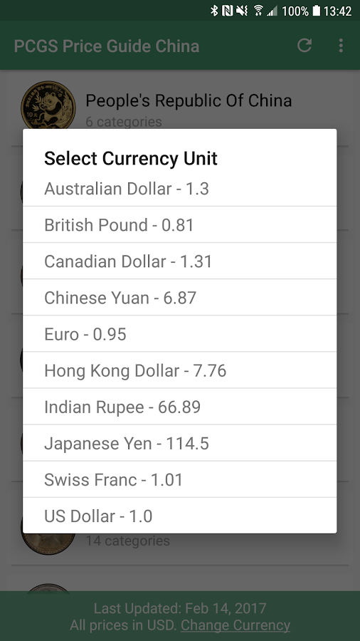 PCGS Chinese Coin Price Guide- screenshot