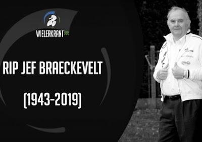 Bekende prominenten uit het wielrennen nemen afscheid van Jef Braeckevelt