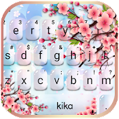 Pink Glass Sakura Keyboard Theme