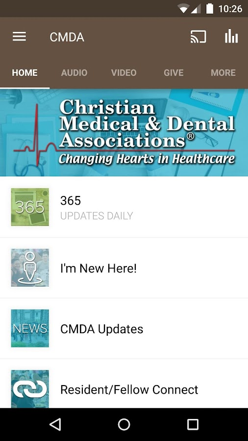 CMDA- screenshot