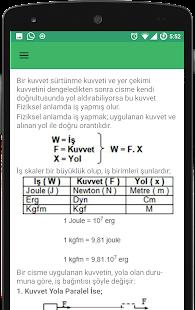 Fizik Formülleri - Ücretsiz - náhled