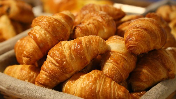 Bread, Croissant, Morning, Puff Paste