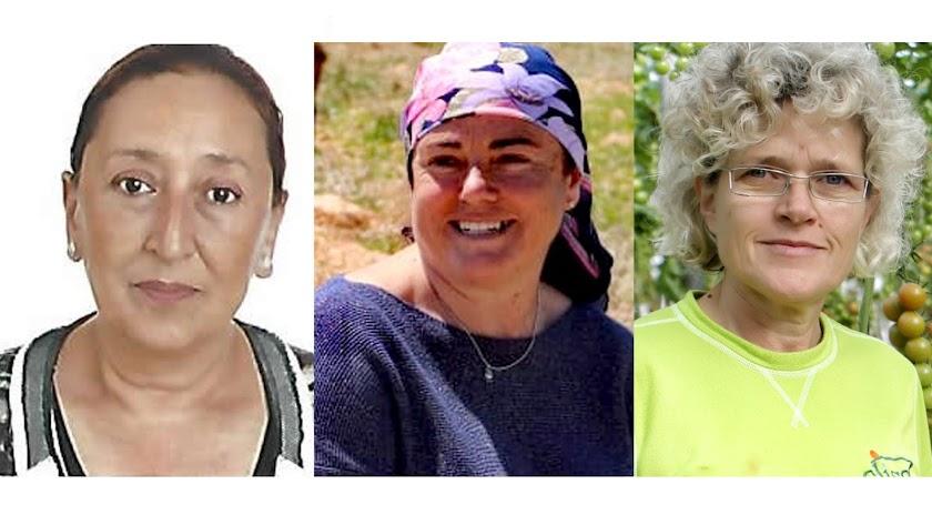 Las tres por Almur, Pilar Alarcón, Santiaga Sánchez y Lola Gómez