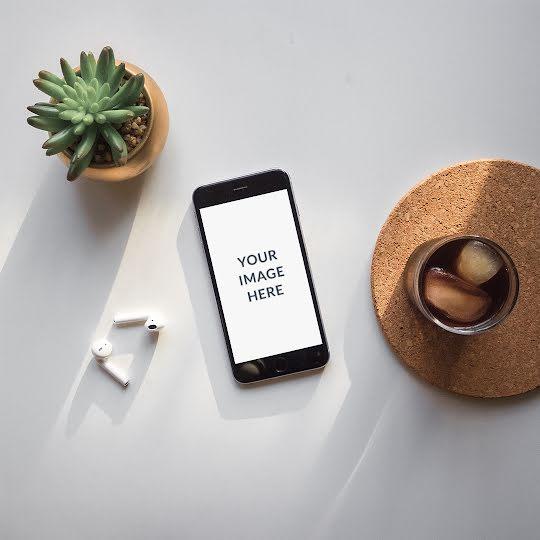 Tabletop Phone Mockup - Instagram Post Template