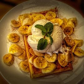 Bannoffy Waffle by Elna Geringer - Food & Drink Candy & Dessert