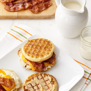 Waffle Egg Sandwiches with Spicy Maple Butter.