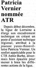 Photo: 01-10-96 Nomination de Patricia Vernier au poste d'Assistante Technique Régionale