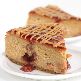 Peanut Butter and Jelly Cheesecake.