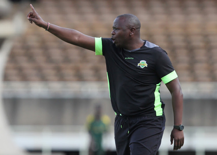 Kariobangi Sharks coach William Muluya during a past match