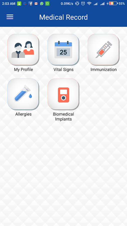 eHealthApp- screenshot