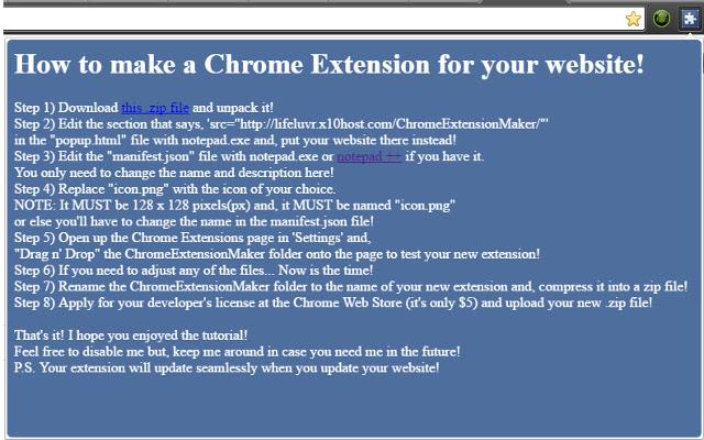 ChromeExtensionMaker