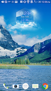 average temp &3D clock widget❆ screenshot 1
