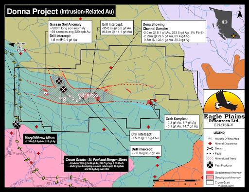 Eagle Plains kicks off a 1,500 meter drill program at Donna