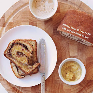 Honey, Apple and Pecan Loaf with Whipped Honey Butter