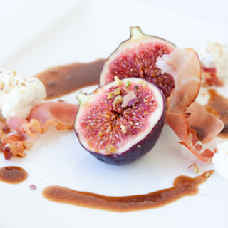 Figs with Prosciutto Goat Cheese & Balsamic Vinegar