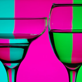 Color glass by Nikos Pilpilidis - Artistic Objects Glass ( water, color, green, glass, pink )